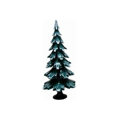 Tannenbaum grün weiss aus Holz 24,5cm