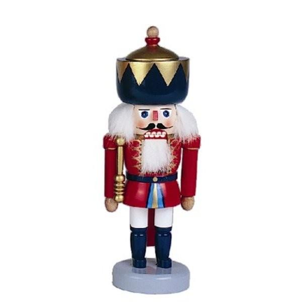 Nussknacker König blaue Krone 27,5cm