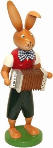 Osterhase mit Harmonika 25cm