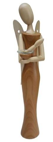 Engel Sternkopf aus Kirschholz mit Tülle 24cm
