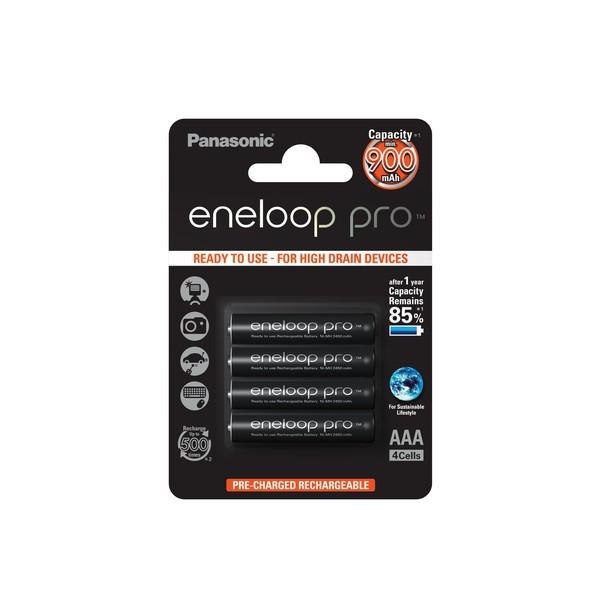 4 Stück  Panasonic eneloop Pro Akku AAA  (BK-4HCCE/4BE)